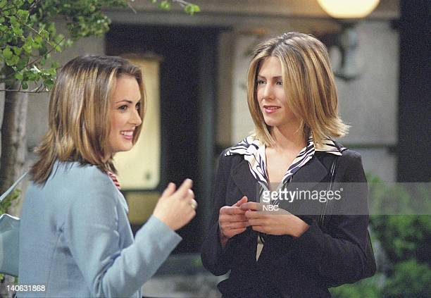 FRIENDS 'The One With Rachelís Big Kiss' Episode 20 Aired 4/26/2001 Pictured Winona Ryder as Melissa Warburton Jennifer Aniston as Rachel Green Photo...