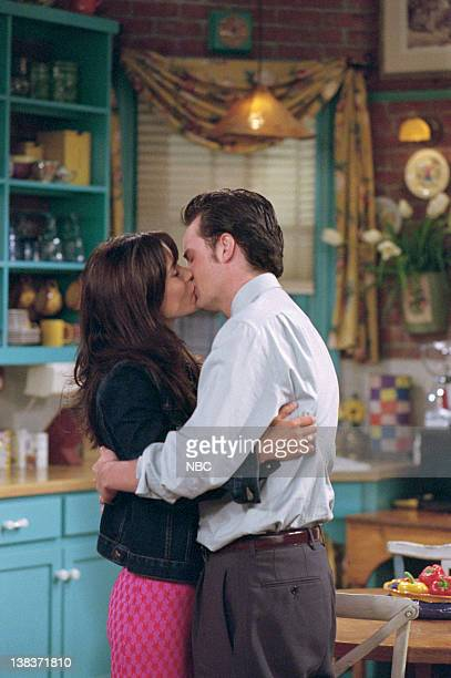 FRIENDS 'The One with Rachel's Book' Episode 2 Aired Pictured Courteney Cox as Monica Geller Matthew Perry as Chandler Bing