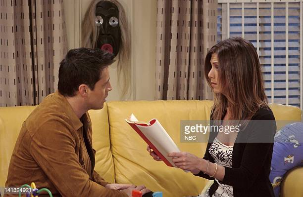 FRIENDS 'The One With Rachel's Dream' Episode 19 Aired Pictured Matt Le Blanc as Joey Jennifer Aniston as Rachel Photo by Danny Feld/NBCU Photo Bank