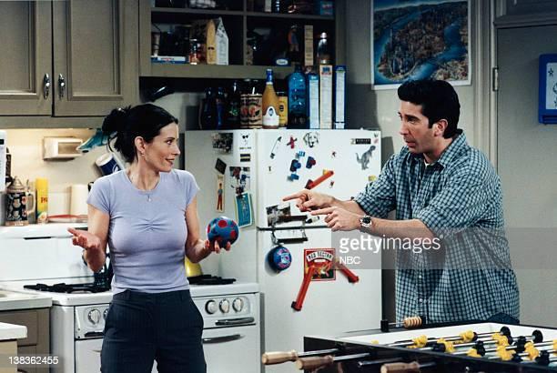 FRIENDS 'The One with the Ball' Episode 21 Air Date Pictured Courteney Cox as Monica Geller David Schwimmer as Ross Geller