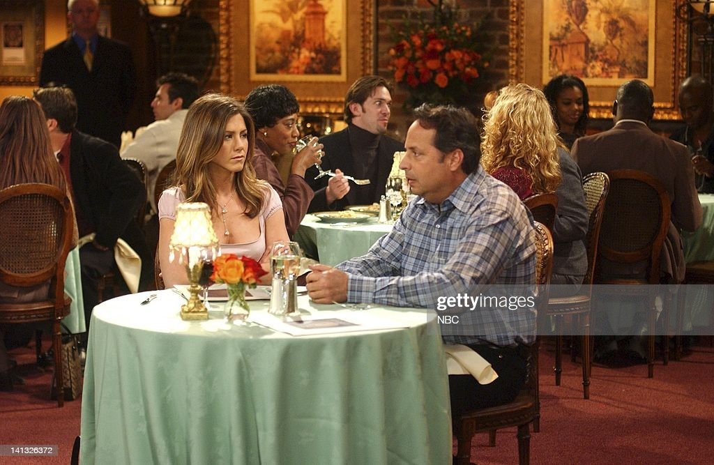 FRIENDS -- 'The One With The Blind Dates' -- Episode 14 -- Aired 2/6/2003 -- Pictured: (l-r) Jennifer Aniston as Rachel Green, Jon Lovitz as Steve -- Photo by: NBCU Photo Bank