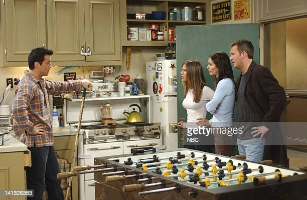 FRIENDS 'The One With The Boob Job' Epsiode 16 Aired 2/20/2003 Pictured Matt LeBlanc as Joey Tribbiani Jennifer Aniston as Rachel Green Courteney...