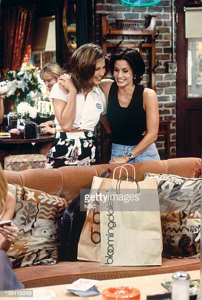 FRIENDS 'The One With the Breast Milk' Episode 2 Pictured Jennifer Aniston as Rachel Green Courteney Cox as Monica Geller