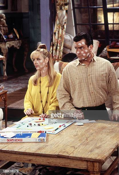 FRIENDS 'The One with the Chicken Pox' Episode 23 Pictured Lisa Kudrow as Phoebe Buffay Charlie Sheen as Ryan