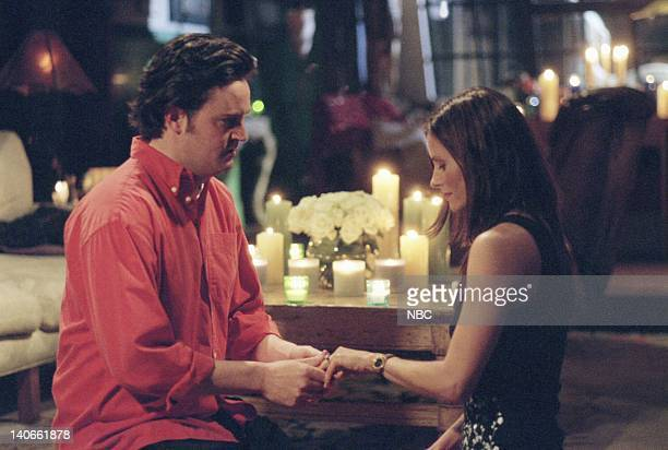 FRIENDS 'The One With The Proposal Part II' Episode 25 Aired Pictured Matthew Perry as Chandler Bing Courteney Cox as Monica Geller Photo by NBCU...
