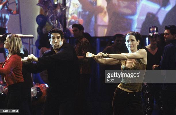 FRIENDS 'The One With The Routine' Episode 10 Aired Pictured David Schwimmer as Ross Geller Courteney Cox as Monica Geller Photo by NBCU Photo Bank