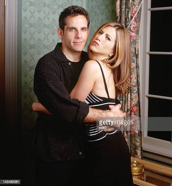 FRIENDS 'The One with the Screamer' Episode 22 Pictured Ben Stiller as Tommy Jennifer Aniston as Rachel Green
