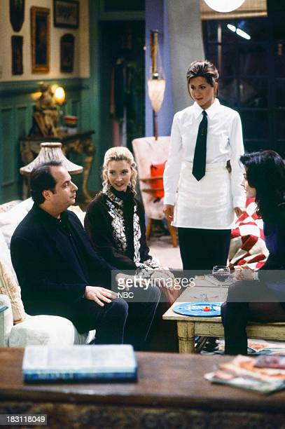FRIENDS 'The One With the Stoned Guy' Episode 115 Pictured Jon Lovitz as Steve Lisa Kudrow as Phoebe Buffay Jennifer Aniston as Rachel Green...