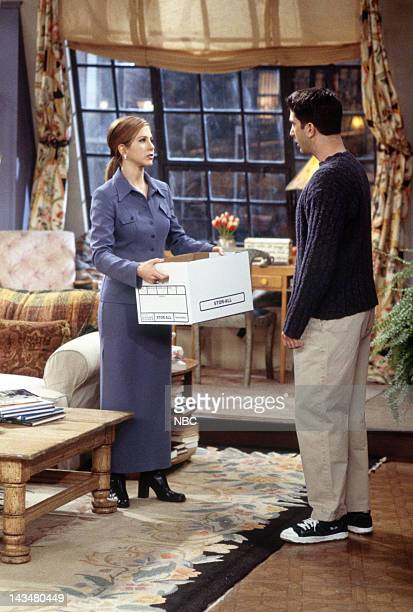 FRIENDS 'The One with the Tiny TShirt' Episode 19 Pictured Jennifer Aniston as Rachel Green David Schwimmer as Ross Geller