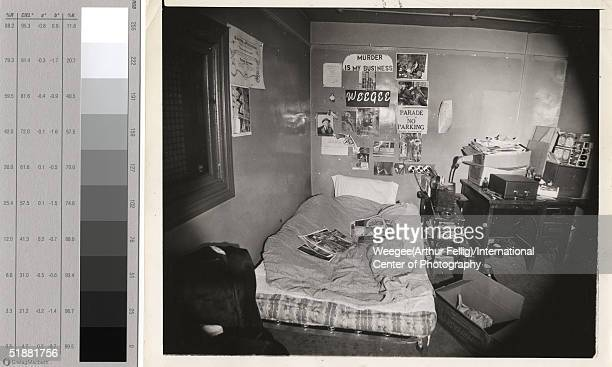The onebedroom apartment of American photographer Weegee at 5 center Market Place where he lived from 1934 1947 New York New York 1939 Photographs...