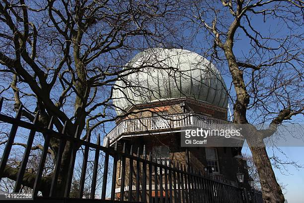 The Onion Dome containing the 28inch Greenwich refracting telescope at the Royal Observatory in Greenwich on March 26 2012 in London England The...