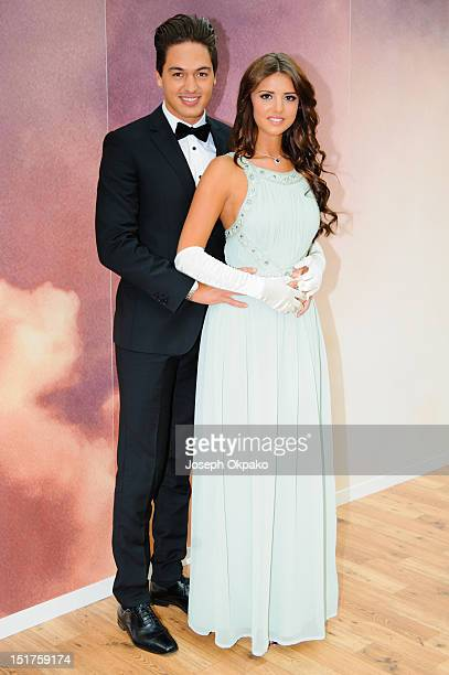 The Only Way Is Essex lovebirds Mario Falcone and Lucy Mecklenburgh open a replica of Rose's cabin at Westfield London to launch the release of...