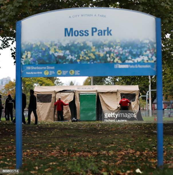 The Ontario EMAT team went to Moss Park on Thursday afternoon to set up an all season and strong tent for supervised drug consumption The tent is a...