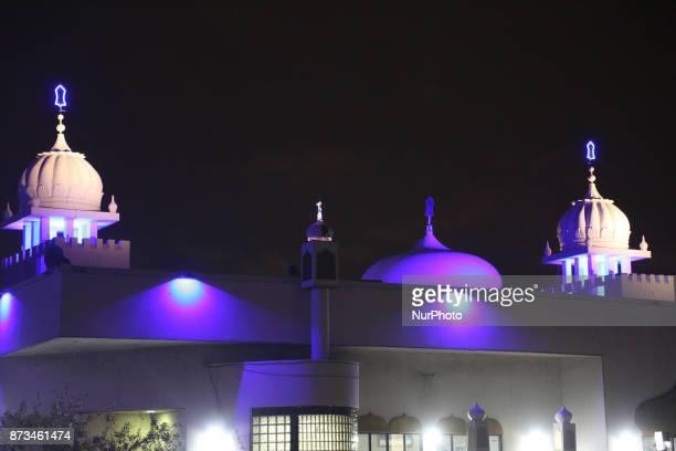 The Ontario Khalsa Darbar illuminated during Gurpurab on November 04 2017 in Mississauga Ontario Canada Guru Nanak Gurpurab also known as Guru...