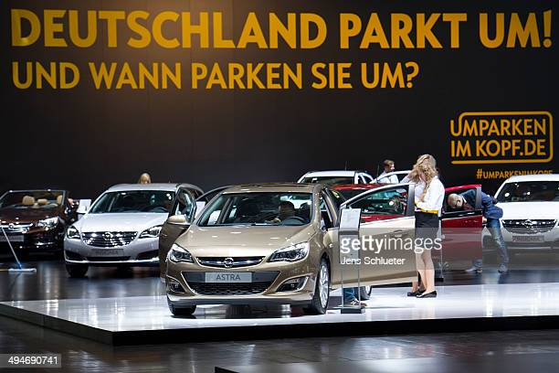 The Opel Astra is seen at the 2014 AMI Auto Show on May 30 2014 in Leipzig Germany The show will be open to the public from May 31 through June 8 and...