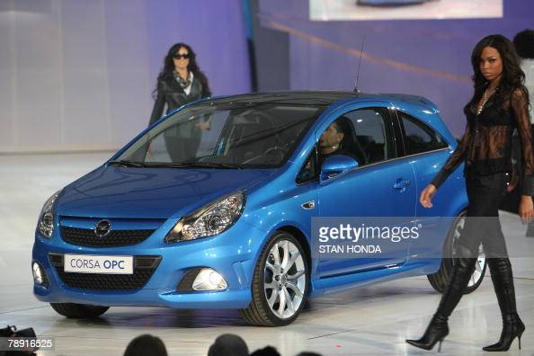 The Opel Corsa OPC is presented at the GM Style event 12 January 2008 kicking off the North American International Auto Show in Detroit Michigan AFP...