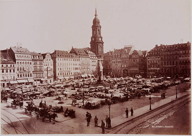 market in old dresden pictures getty images. Black Bedroom Furniture Sets. Home Design Ideas