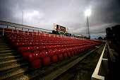 The open away stand at The County Ground home stadium of Swindon Town FC