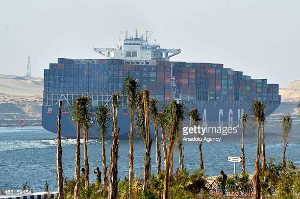 The opening ceremony of a new waterway at the Suez Canal is held on August 6 in the port city of Ismailia