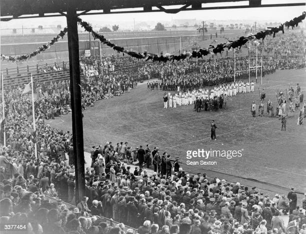 The opening ceremony of the Tailteann Games at Croke Park in Dublin The games include the hurling championships Ireland's national game