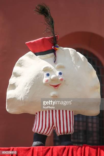 The opening of the 15th Annual Pierogi Festival in Krakow's Small Square in Krakow Poland on 11 August 2017 Each year local pierogi producers...