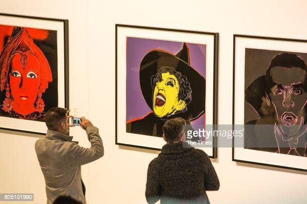 The opening of the Andy Warhol exhibition at the Wits Art Museum on July 26 2017 in Johannesburg South Africa The exhibition is part of an outreach...