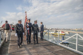 The opening of the Votive bridge is seen at the Redentore Celebrations on July 16 2016 in Venice Italy Redentore which is in remembrance of the end...