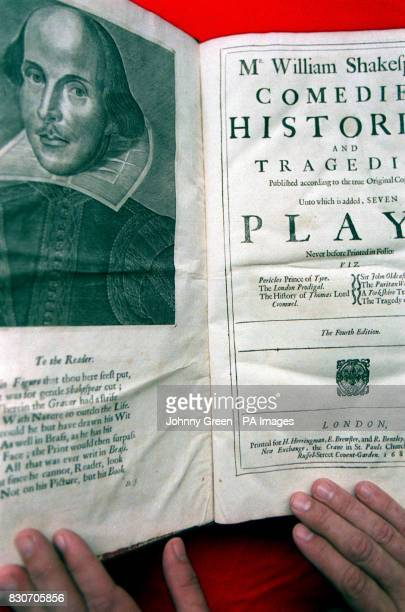The opening pages of The First Folio dated 1623 part of William Shakespeare's Comedies Histories and Tragedies that is more commonly known as The...