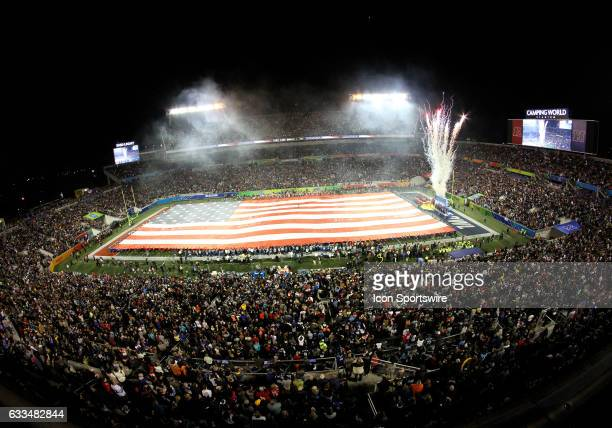 The opening sequence during the 2017 Pro Bowl on January 29 at Camping World Stadium in Orlando Florida