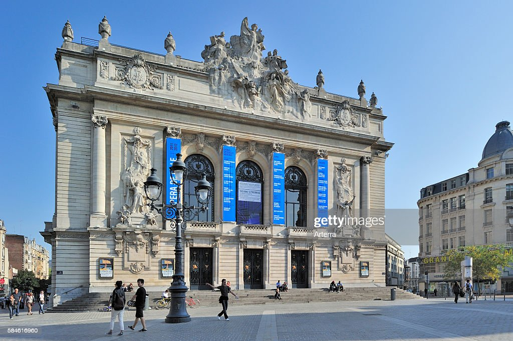The Opera de Lille a theaterstyle neoclassical opera house at Lille France