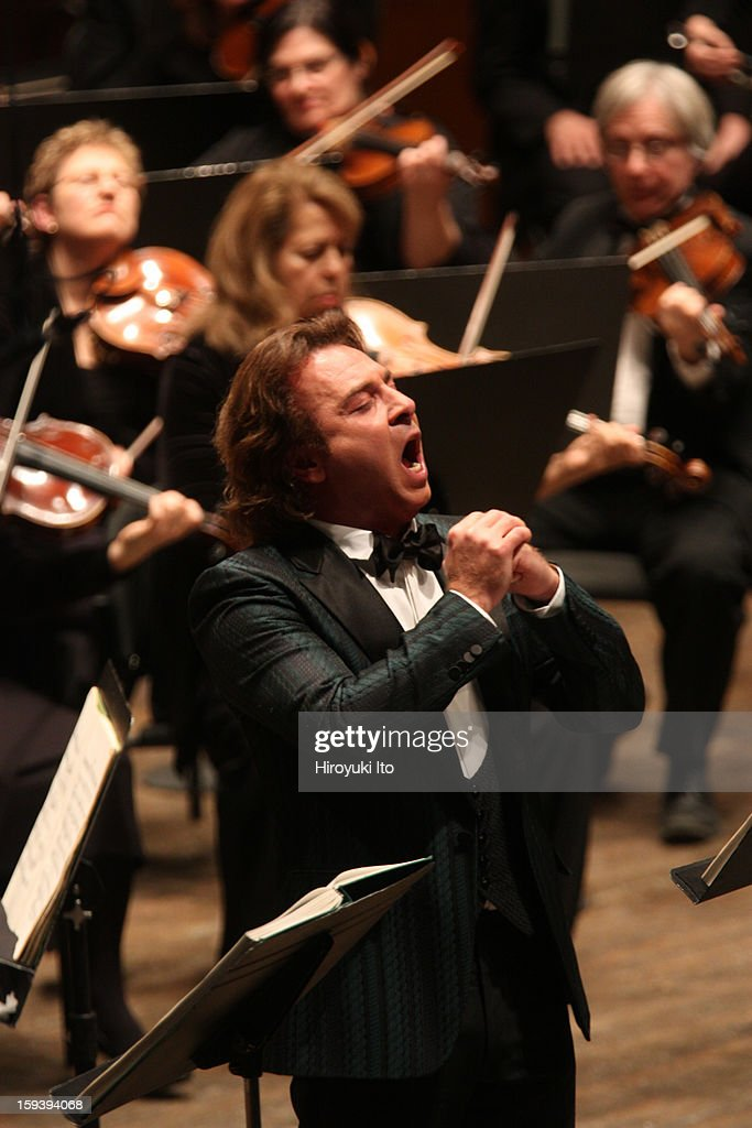 The Opera Orchestra of New York performing Umberto Giordano's 'Andrea Chenier' on Sunday afternoon, January 6, 2013.This image:The tenor Roberto Alagna.
