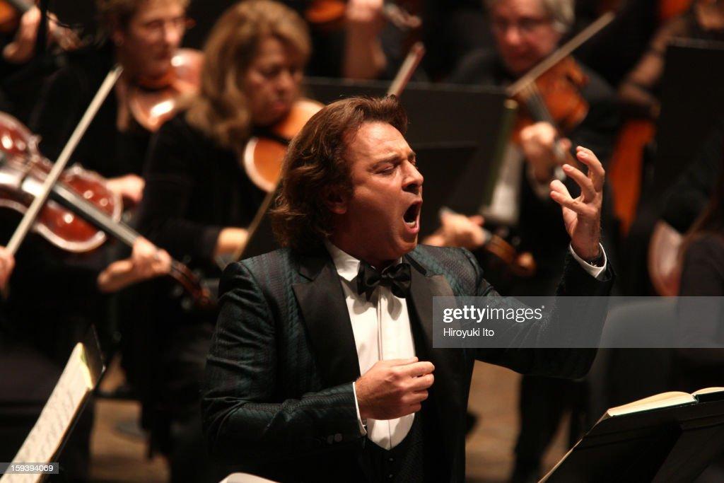 The Opera Orchestra of New York performing Umberto Giordano's 'Andrea Chenier' on Sunday afternoon January 6 2013This imageThe tenor Roberto Alagna