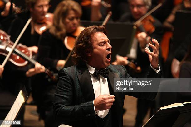 The Opera Orchestra of New York performing Umberto Giordano's 'Andrea Chenier' on Sunday afternoon January 6 2013This imageThe tenor Roberto Alagna