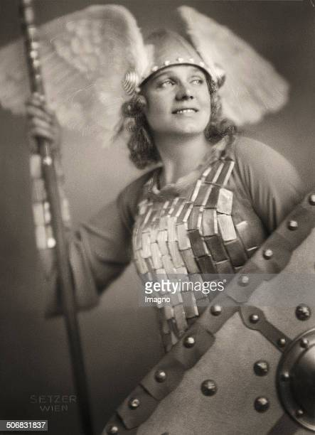 The opera singer Maria Jeritza as Bruennhilde in the opera 'The Valkyrie' by Richard Wagner Vienna Photograph 1930