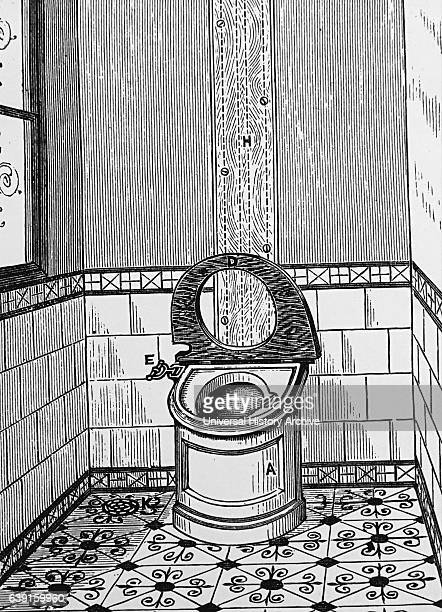 The Optimus pedestal WC with small leadlined wooden cistern Dated 19th Century