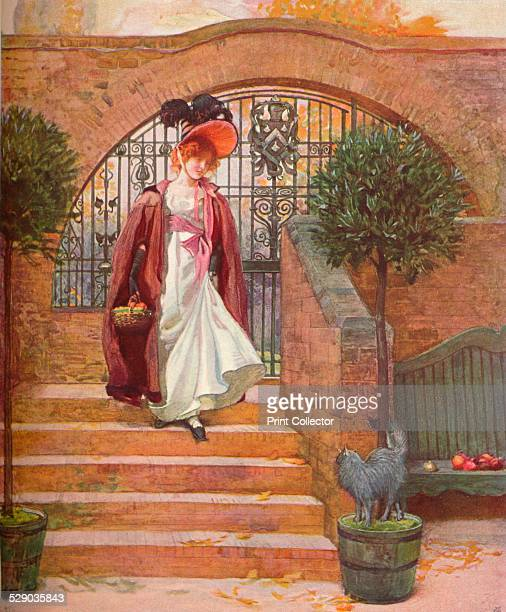 The Entrance Gate and Steps The Orchard was designed by architect Arnold Mitchell After a watercolour by Joseph Walter West From The Studio Volume 28...