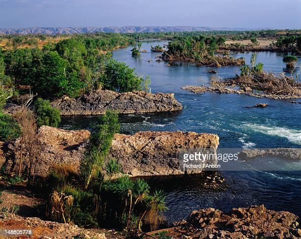 The Ord River below Kununurra Dam in the Kimberley region of north-west Australia.