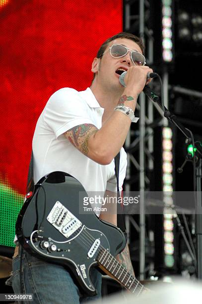 The Ordinary Boys during T4 on the Beach June 18 2006 in WestonSuperMare Great Britain
