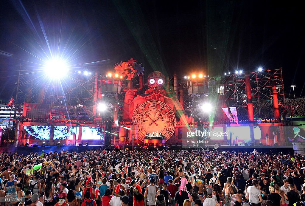 The Organ Donors perform at the 17th annual Electric Daisy Carnival at Las Vegas Motor Speedway on June 23, 2013 in Las Vegas, Nevada.