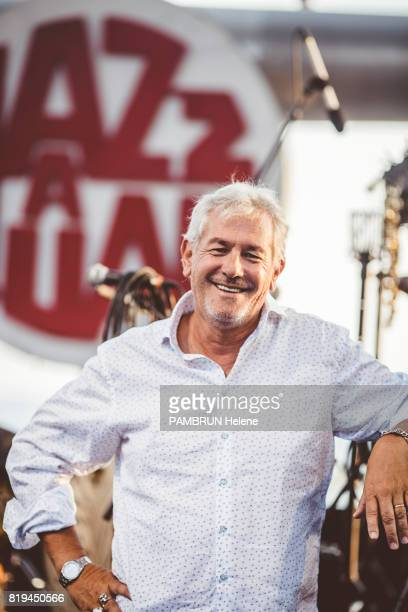 the organizer of the Jazz Festival JeanRene Palacio on july 18 2017 in JuanLesPins France