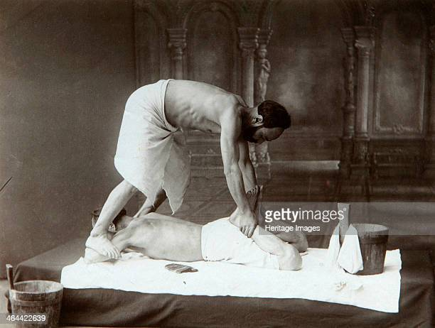 'The Oriental bath Massage' 1880s Found in the collection of the Russian Museum of Ethnography