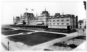 The Oriental Hotel and boardwalk Manhattan Beach Brooklyn New York New York mid 1900s Highangle view from the southeast