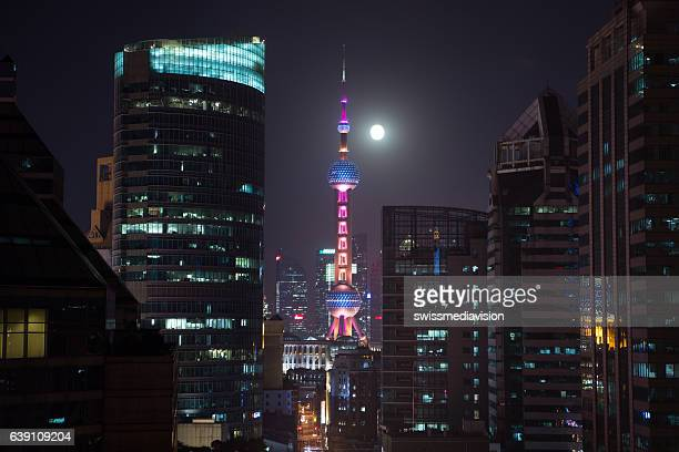 The Oriental Pearl tower in Shanghai, china