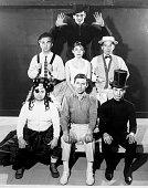 The Original 1960 Cast Of The Fantasticks Jerry Orbach top Center row from left Hugh Thomas Rita Gardner William Larsen Bottom row from left Richard...
