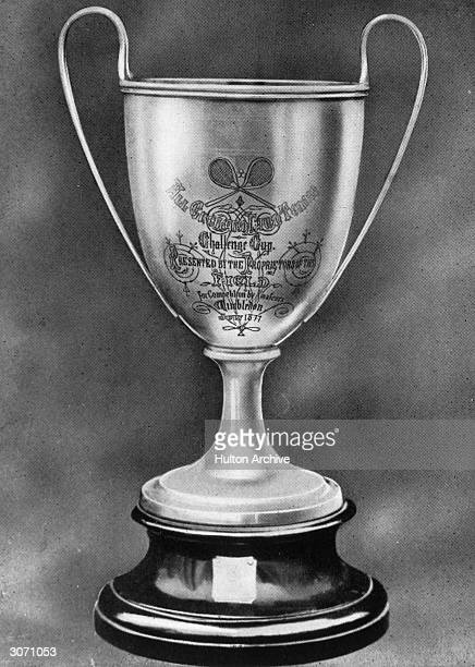 The original Challenge Trophy trophy presented at Wimbledon