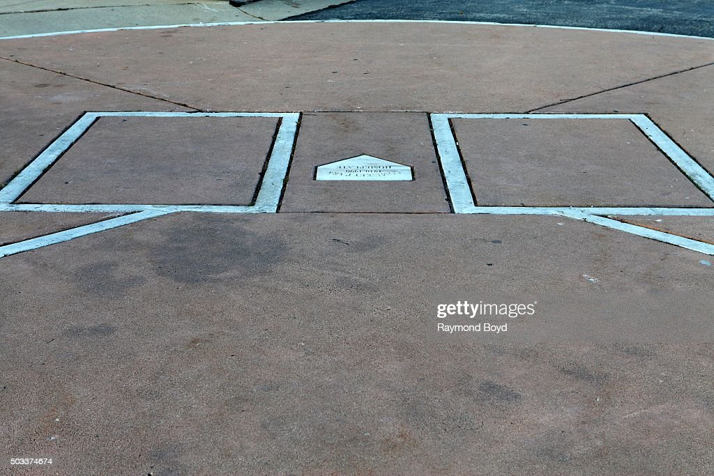 The original Comiskey Park home plate resides in parking lot 'B' outside US Cellular Field home of the Chicago White Sox baseball team on November 10...