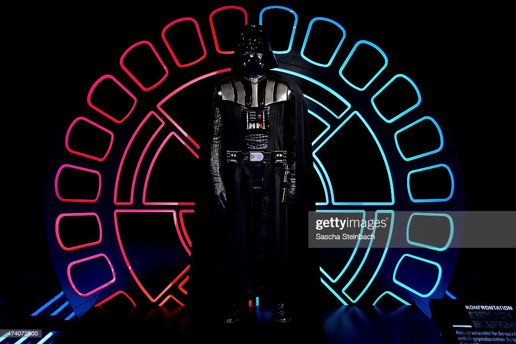 The original costume worn by David Prowse as Darth Vader is seen during the 'Star Wars Identities' Exhibtion Press Preview & VIP Opening at Odysseum on May 20, 2015 in Cologne, Germany.