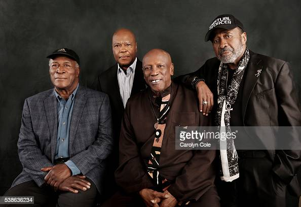 The original members of the TV show 'ROOTS' Ben Vereen Louis Gossett Jr John Amos Georg Stanford Brown are photographed for Los Angeles Times on May...