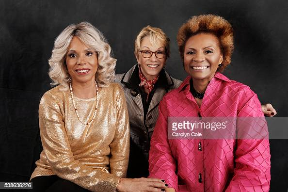 The original members of the TV show 'ROOTS' Leslie Uggams Sandy Duncan and Lynne Moody are photographed for Los Angeles Times on May 11 2016 in New...