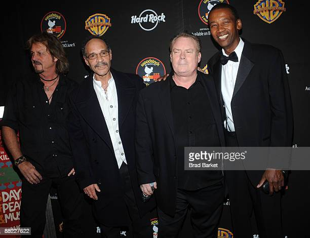 The original Santana band not including Santana himself that performed at Woodstock attend the 'Woodstock 40th Anniversary' BluRay release party at...
